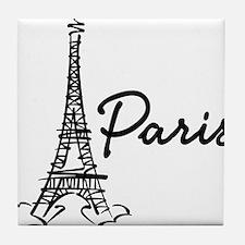 2-paris Tile Coaster