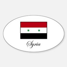 Syria Oval Decal