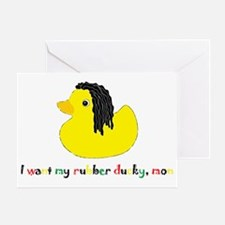 rubberducky_mon_color_02 Greeting Card