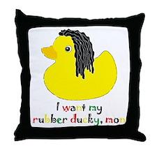 rubberducky_mon_color_round Throw Pillow