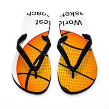 worldsbestbasketballcoach Flip Flops