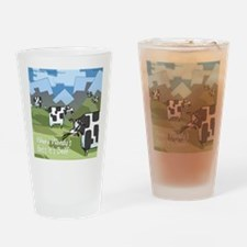 Origin Of Fast-Food Cows Drinking Glass