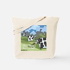 Origin Of Fast-Food Cows Tote Bag