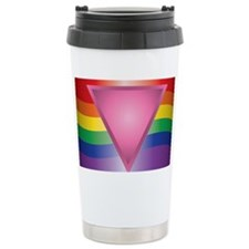 Wide Rainbow Triangle Travel Mug