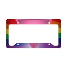 Wide Rainbow Triangle License Plate Holder