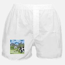 Origin Of Fast-Food Cows Boxer Shorts