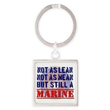 Not as Lean Still a Marine Square Keychain