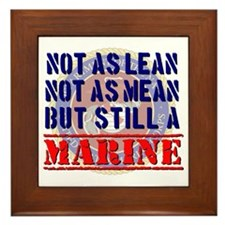 Not as Lean Still a Marine Framed Tile