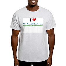 I love Uzbekistan Ash Grey T-Shirt