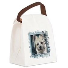 Look_Eyes_Cairn_Teddy_Bear_Sq Canvas Lunch Bag