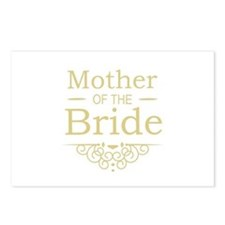 Mother of the Bride gold Postcards (Package of 8)