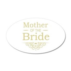 Mother of the Bride gold Wall Sticker