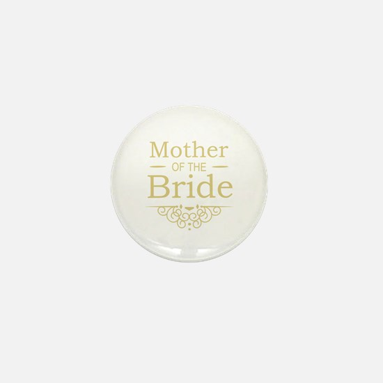Mother of the Bride gold Mini Button (10 pack)
