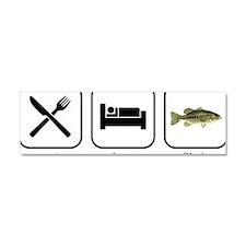 Eat Sleep Fish Car Magnet 10 x 3