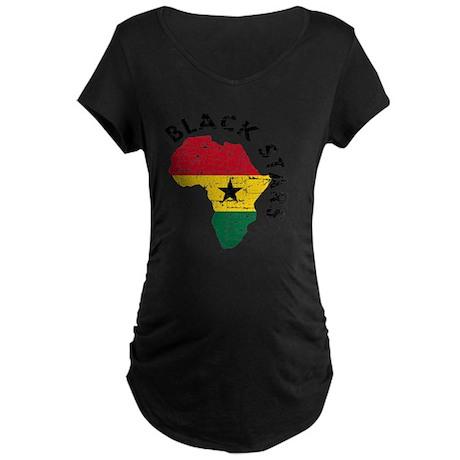 african soccer designs Maternity Dark T-Shirt
