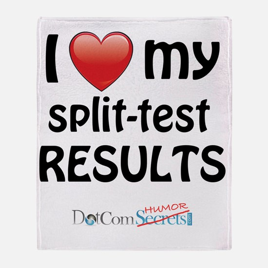 i-heart-split-test-02 Throw Blanket