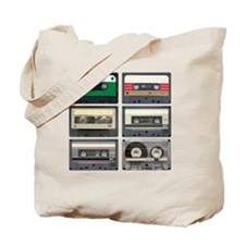 cassettes sqaure Tote Bag