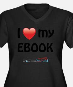 i-heart-eboo Women's Plus Size Dark V-Neck T-Shirt