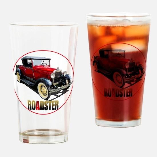 RedAroadster-C8trans Drinking Glass