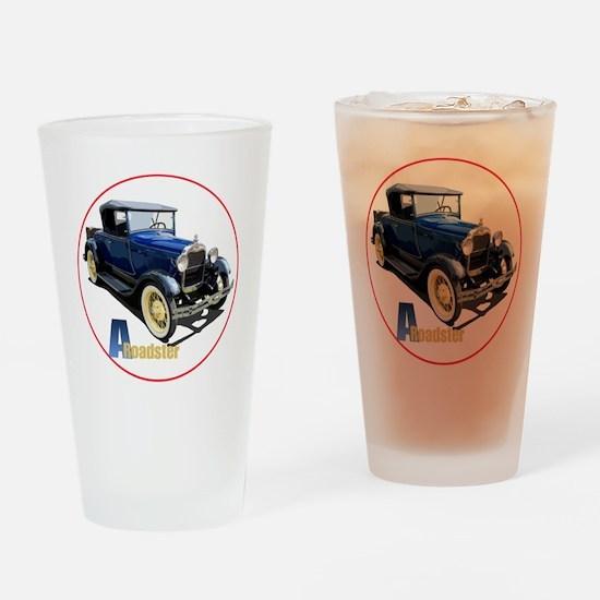 Aroadster-blue-C8trans Drinking Glass