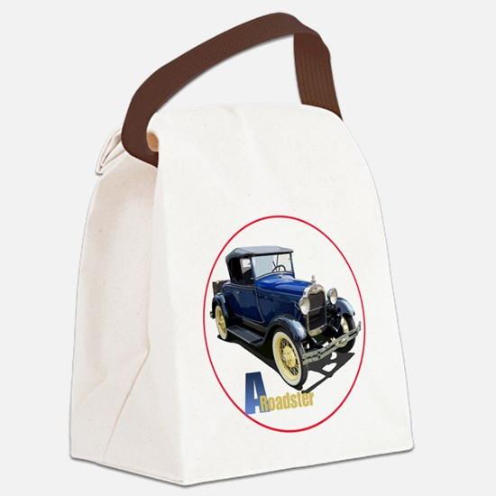 Aroadster-blue-C8trans Canvas Lunch Bag