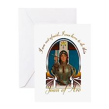 Joan Nouveau (black) Greeting Card