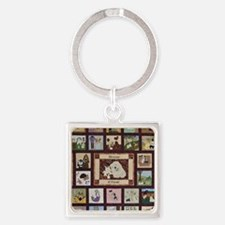 2010whole_quilt Square Keychain