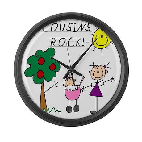 cousinsrock6 Large Wall Clock