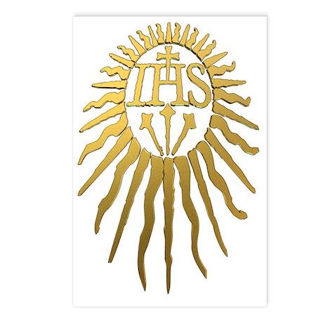 Jesuit IHS Monogram_Dark Postcards (Package of 8)