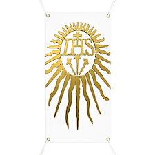 Jesuit IHS Monogram_Dark Banner