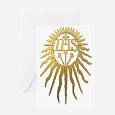Jesuit IHS Monogram_Dark Greeting Card
