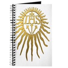 Jesuit IHS Monogram_Dark Journal