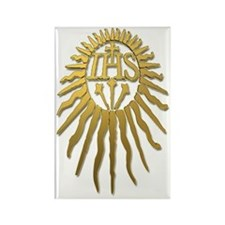 Jesuit IHS Monogram_Light Rectangle Magnet