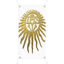 Jesuit IHS Monogram_Light Banner