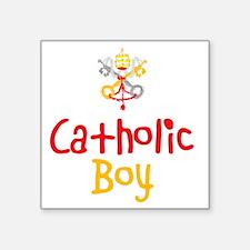 """CatholicBoy_Both Square Sticker 3"""" x 3"""""""