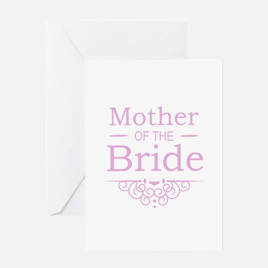 Mother of the Bride pink Greeting Cards
