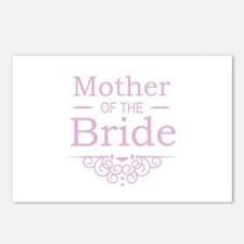 Mother of the Bride pink Postcards (Package of 8)