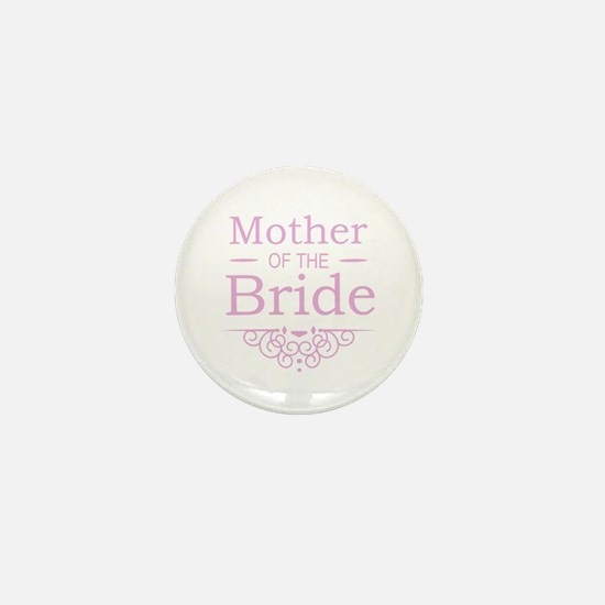 Mother of the Bride pink Mini Button (10 pack)