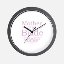 Mother of the Bride pink Wall Clock