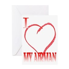LOVE AIRMAN. Greeting Card
