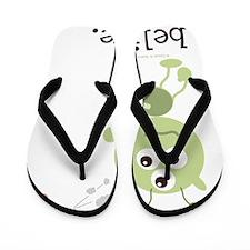 2-AlienIBelieve Flip Flops
