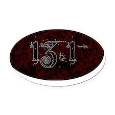13-1-oval-shirt Oval Car Magnet