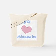 yo amo abuelo Tote Bag