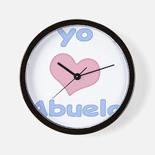 2-yo amo abuelo Wall Clock