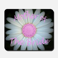 Pink daisy mother of bride Mousepad