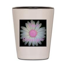 Pink daisy flowergirl Shot Glass