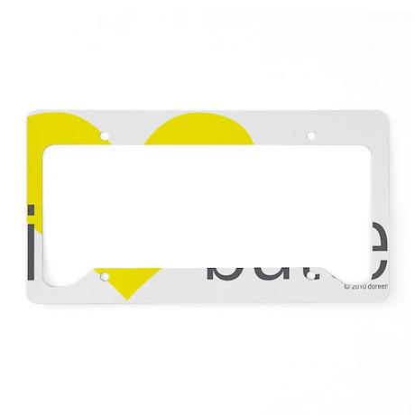 10x10-200DPI melting heart pi License Plate Holder