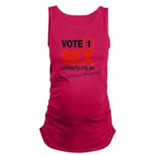 vote1_serious Maternity Tank Top