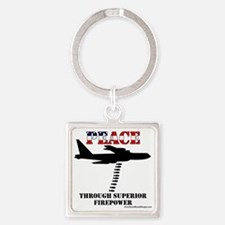 peace b52 Square Keychain
