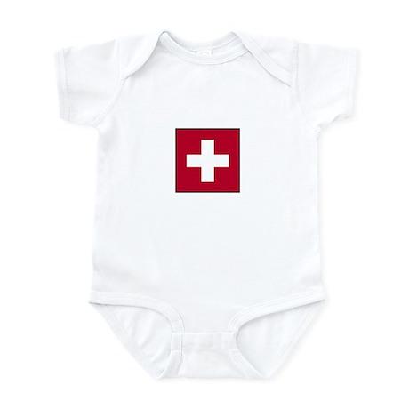 Swiss Flag - Switzerland Infant Bodysuit